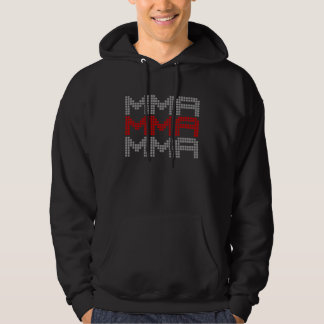 I Love Mixed Martial Arts and Fighting v02, Silver Hoodie