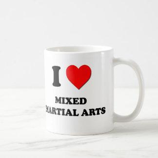 I Love Mixed Martial Arts Basic White Mug