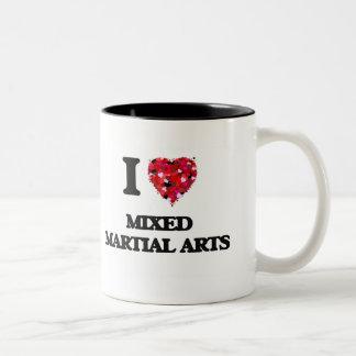 I Love Mixed Martial Arts Two-Tone Mug