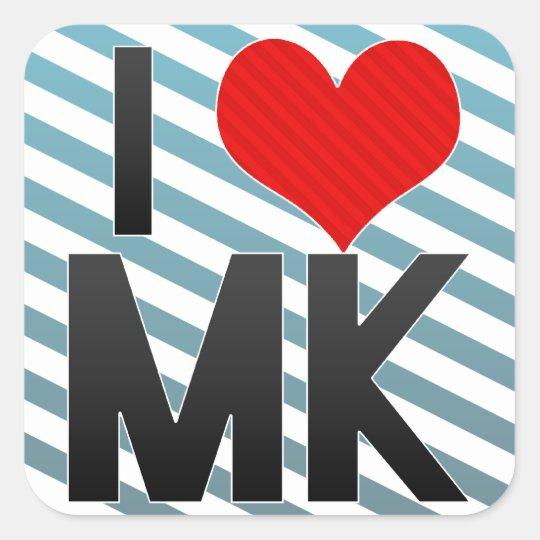 I Love MK Square Sticker