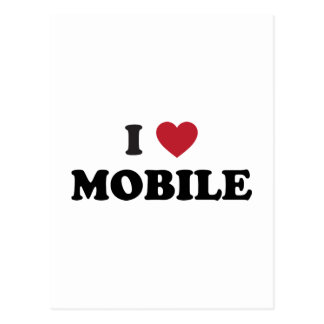 I Love Mobile Alabama Postcard