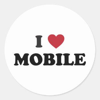 I Love Mobile Alabama Round Sticker