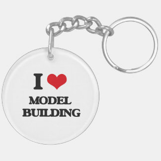 I Love Model  Building Double-Sided Round Acrylic Key Ring