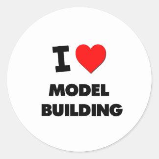 I Love Model  Building Round Sticker