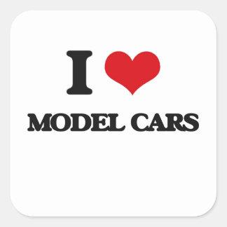 I Love Model Cars Stickers