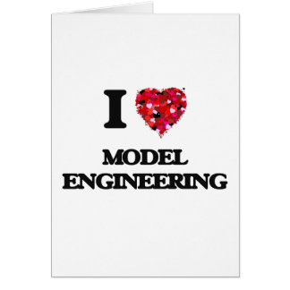 I Love Model Engineering Greeting Card
