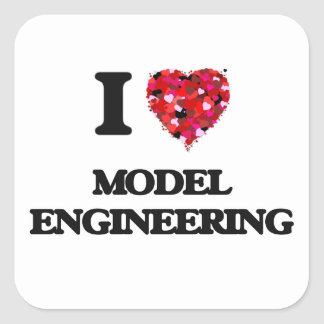 I Love Model Engineering Square Sticker