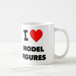 I Love Model Figures Coffee Mugs