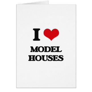 I Love Model Houses Greeting Card