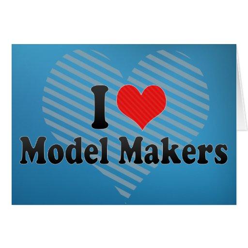 I Love Model Makers Cards