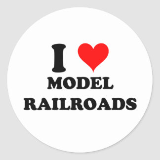 I Love Model Railroads Classic Round Sticker