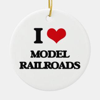 I Love Model Railroads Christmas Tree Ornaments