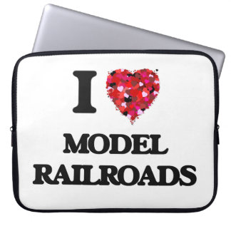 I Love Model Railroads Laptop Computer Sleeve
