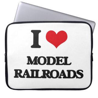 I Love Model Railroads Laptop Computer Sleeves