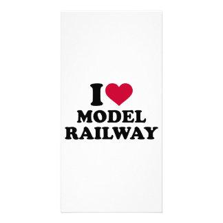 I love model railway photo card