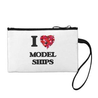 I Love Model Ships Coin Wallet