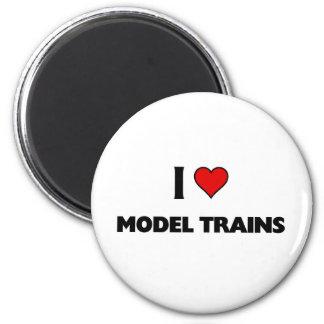 I love model trains 6 cm round magnet