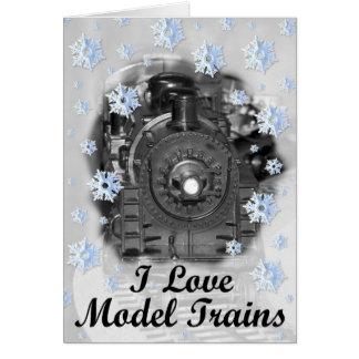 I Love Model Trains Greeting Card