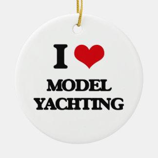 I Love Model Yachting Ornaments