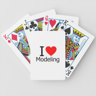 I Love Modeling Bicycle Poker Cards