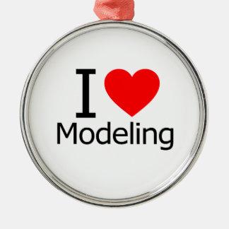 I Love Modeling Christmas Ornaments