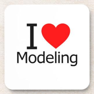 I Love Modeling Drink Coaster