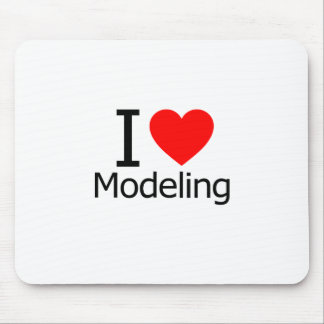 I Love Modeling Mouse Pad