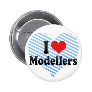 I Love Modellers Pinback Buttons