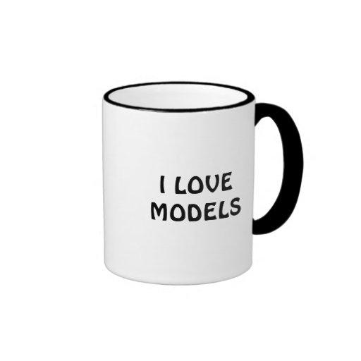 I LOVE MODELS COFFEE CUP COFFEE MUG