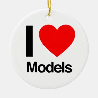 i love models christmas ornaments