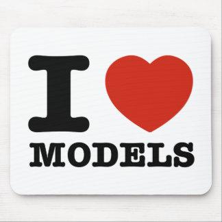 I love models mousepads