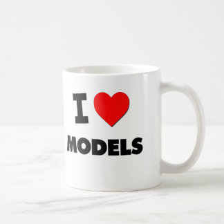 I Love Models Mugs