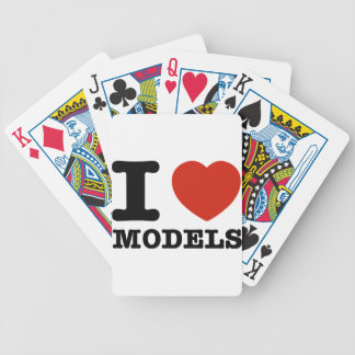 I love models poker cards