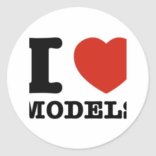 I love models stickers