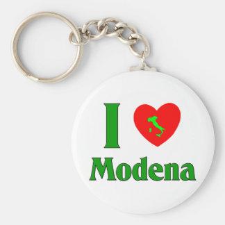 I Love Modena Italy Basic Round Button Key Ring