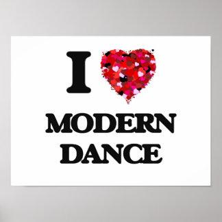 I Love Modern Dance Poster