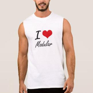 I Love Modular Sleeveless T-shirts