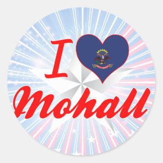 I Love Mohall, North Dakota Stickers