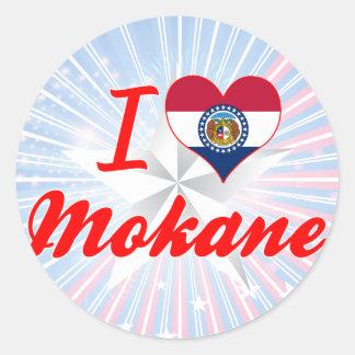 I Love Mokane, Missouri Stickers