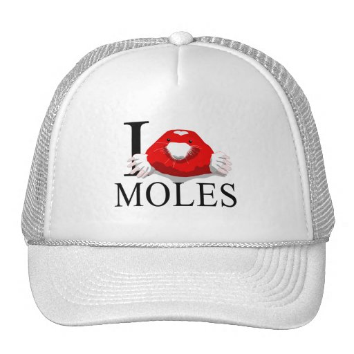 I Love Moles Caps Mesh Hats
