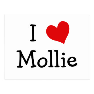 I Love Mollie Postcard