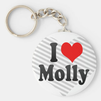 I love Molly Basic Round Button Key Ring