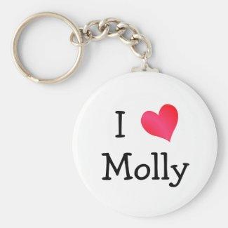 I Love Molly Keyring