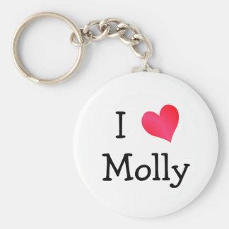 I Love Molly Basic Round Button Key Ring