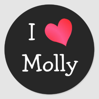 I Love Molly Classic Round Sticker