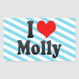 I love Molly Rectangular Sticker