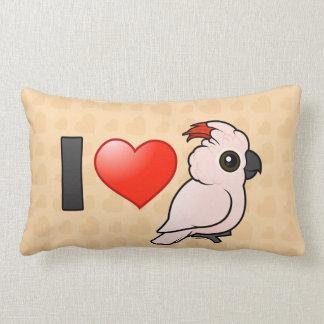 I Love Moluccan Cockatoos Throw Pillow
