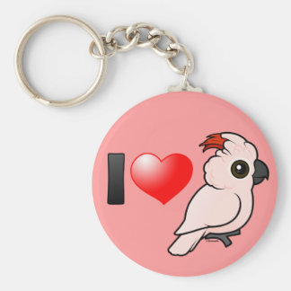 I Love Moluccan Cockatoos Key Ring