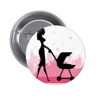 i love mom 6 cm round badge