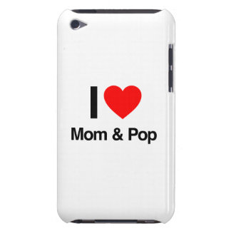 i love mom and pop barely there iPod cases